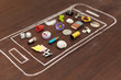 Leinwanddruck Bild - Smartphone Apps