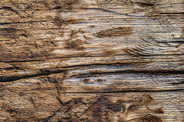 Old Weathered Cracked Wooden Crosstie Surface Texture