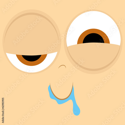 Funny Cartoon Character Face Illustration Editable