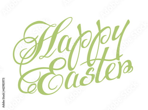 Happy Easter lettering. Vector illustration.