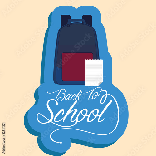 Backpack And Paper With White Space For Text