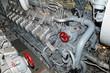 Leinwanddruck Bild - submarine diesel engines