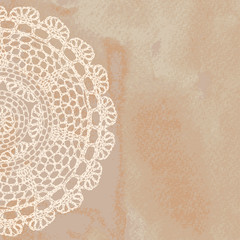 Vector template. Lacy background.