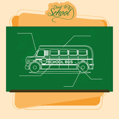 Chalkboard With A Drawing Of A School Bus