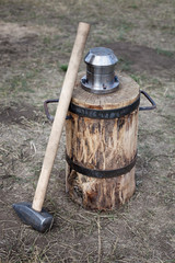 blacksmith hammer and coinage tool