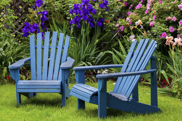 Blue Back Yard Chairs