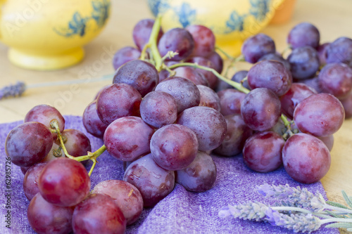 Bunch of grapes ready to eat