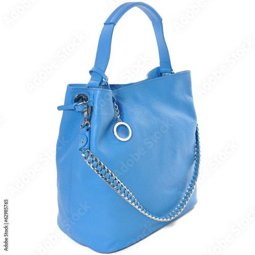 luxury leather female bag isolated on white