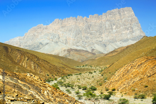comb mountain in Oman