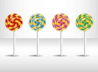 Vector illustration with candy. Illustration 10 version