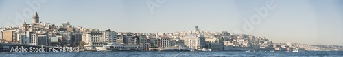 Cityscape over Istanbul Turkey and Bosphorus