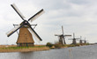 Dutch windmills at Kinderdijk, near Rotterdam, Holland
