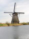 Dutch windmill at Kinderdijk, near Rotterdam, Holland