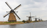 Dutch windmills at Kinderdijk, near Rotterdam, Holland