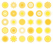 Set of sun icons.