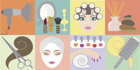 Beauty salon. Vector illustration EPS10