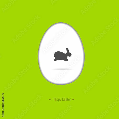 Happy easter card with Easter motif