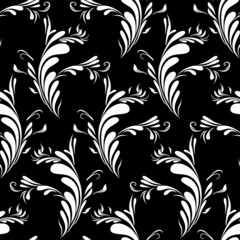 Pattern With Abstract Feathers