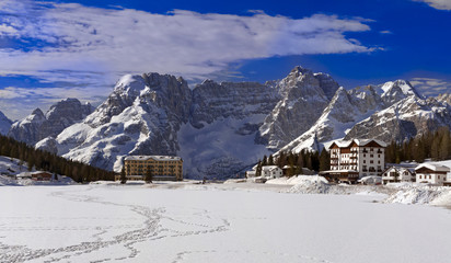 Misurina Lake in Dolomites