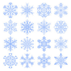 Set of snowflakes design.