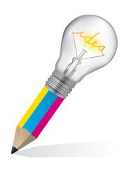 Pencil for graphic design ideas