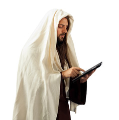 Jesus uses the tablet
