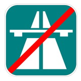 Swiss highway end icon