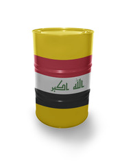 Barrel with Iraqi flag