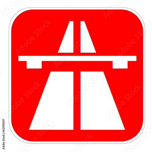 Red highway icon