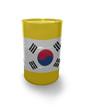 Barrel with Korean flag