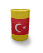 Barrel with Turkish flag