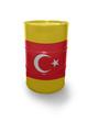 Barrel with Turkish flag