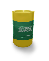 Barrel with Saudi Arabia flag