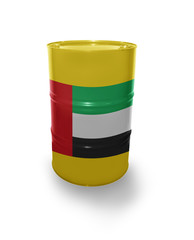 Barrel with United Arab Emirates flag