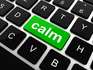 calm key on computer keyboard