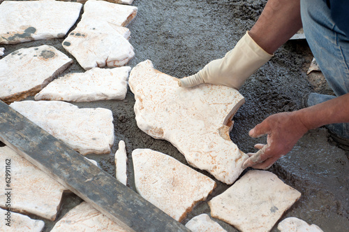 Paving a patio