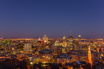 Night View of Downtown Montreal