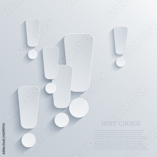 Vector modern exclamation mark background. Eps 10