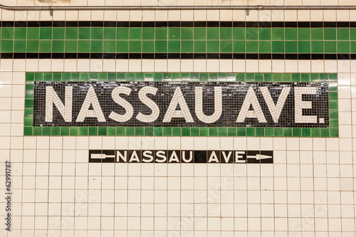 Nassau Avenue Subway Sign