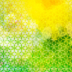 Vintage green and yellow defocused background. Eps10