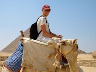 promenade a dos de dromadaire aux pyramides