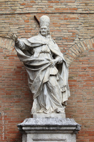 Monument to Clement XI in Urbino, Italy