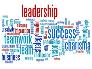 Leadership in business - word cloud illustration