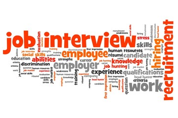 Job interview - word cloud illustration