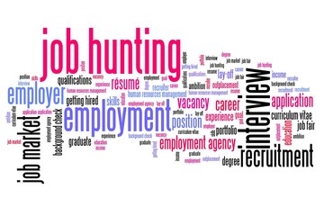 Job search - word cloud illustration