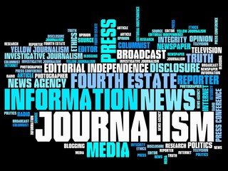 Journalism - word cloud illustration