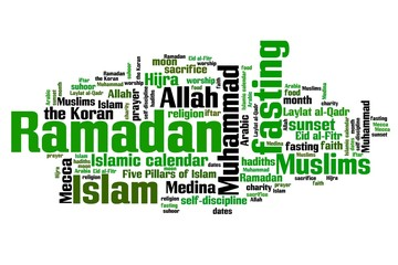 Ramadan - word cloud illustration