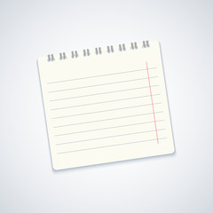 Vector modern notebook on gray background. Eps10