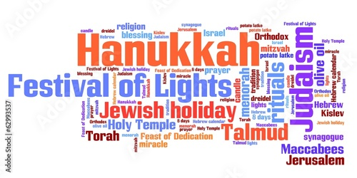 Hanukkah - word cloud illustration