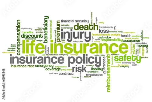 Life insurance - word cloud illustration